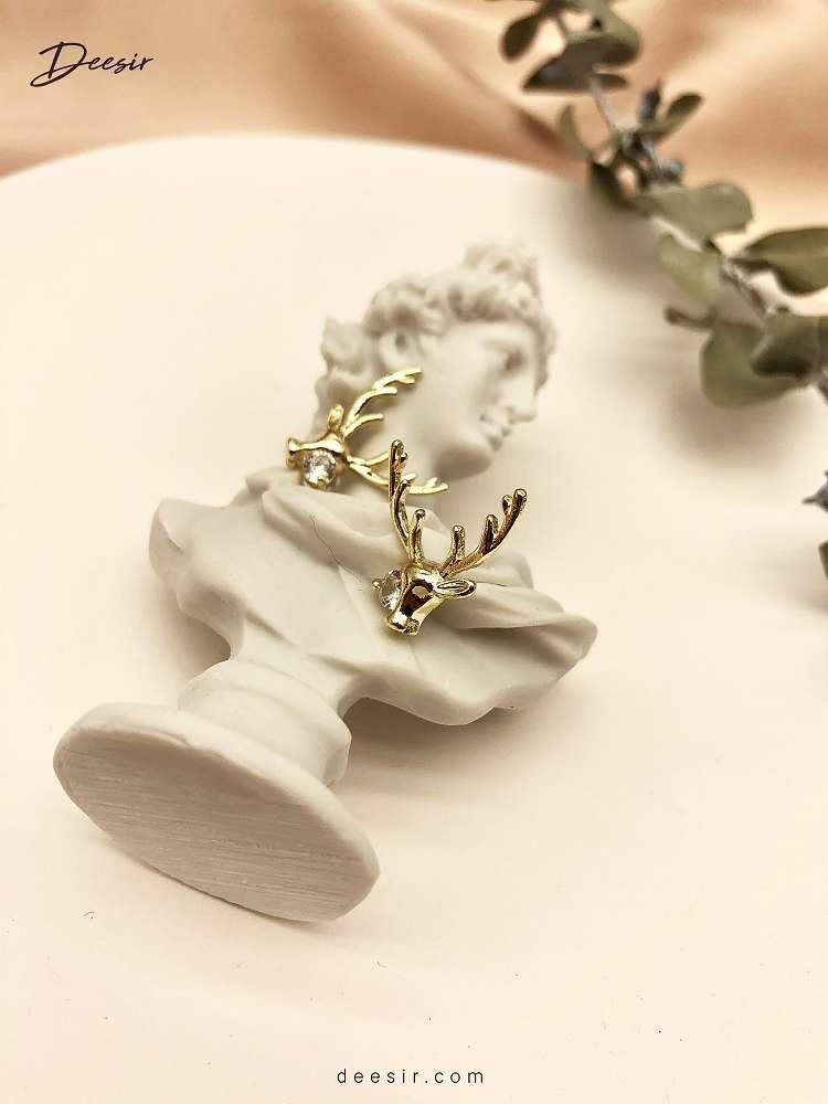 針式耳環 - 糜鹿配鑽 925銀 - 最自然的濾鏡 | 迪希雅 deesir