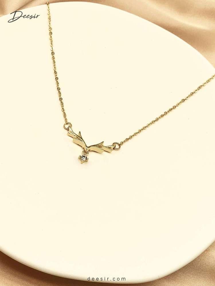 項鍊 - 鑲鑽麋鹿鎖骨鍊 925銀 - 最自然的濾鏡   迪希雅 deesir
