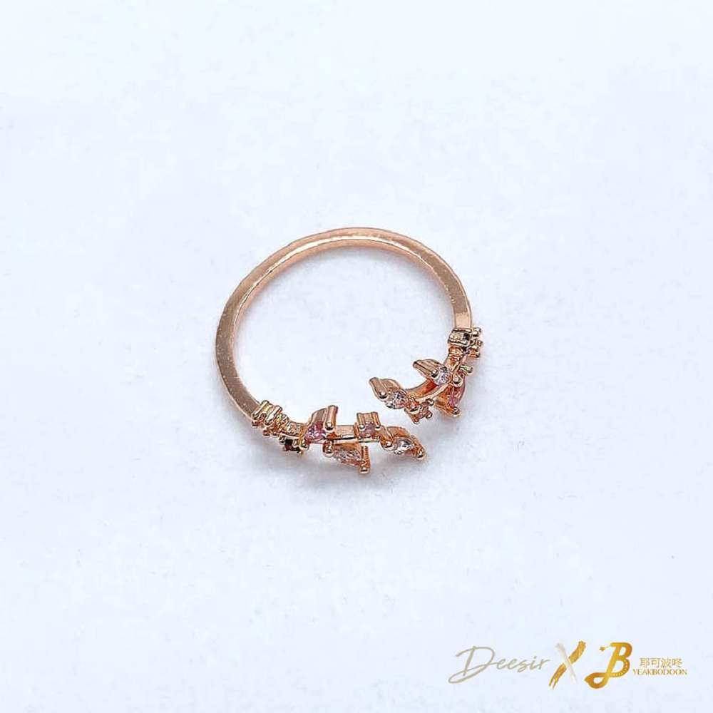 單戒指 - 細葉彩色鑽石 合金 - 飾品調色盤 | 迪希雅 deesir
