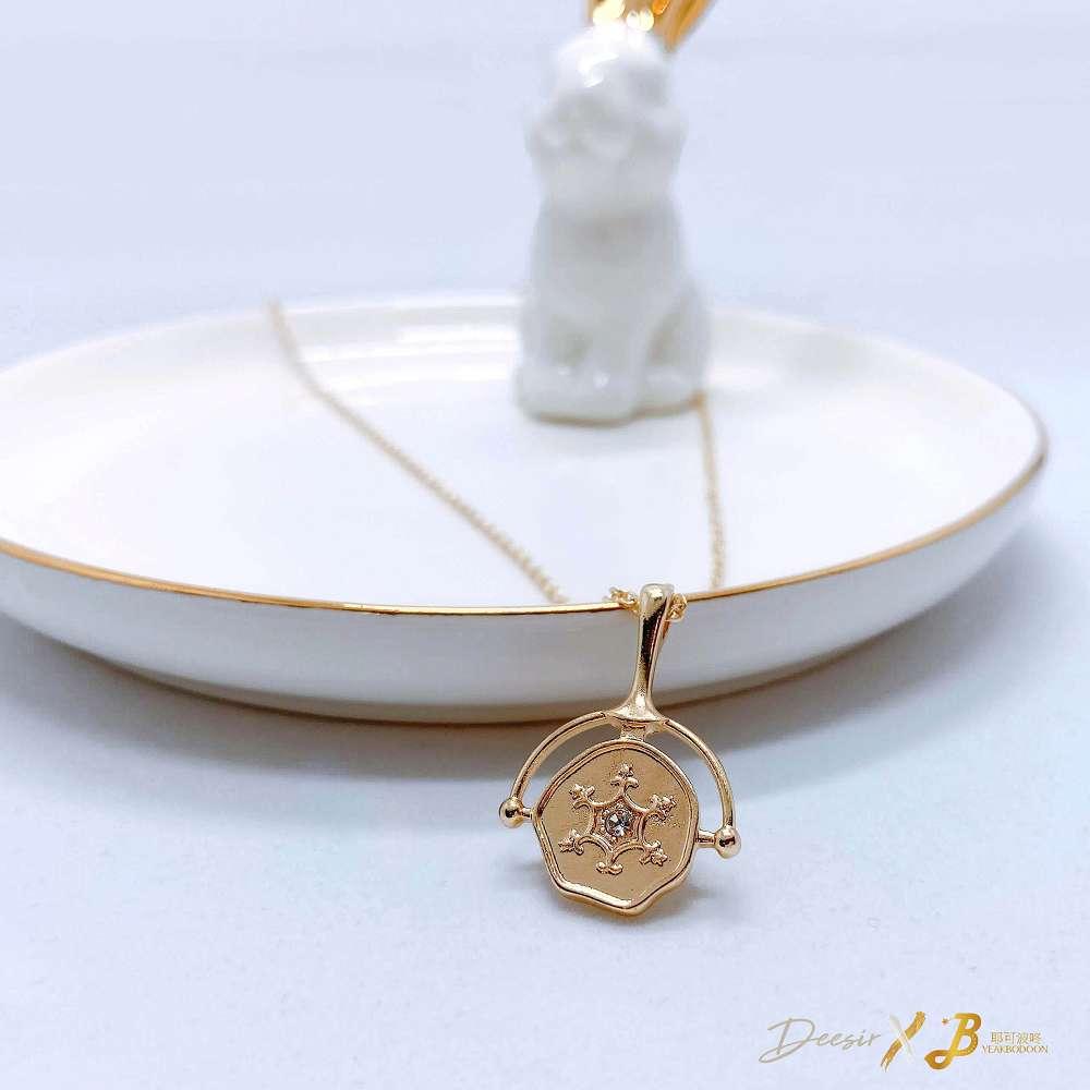 項鍊 - 旋轉盤鎖骨鍊 合金 - 飾品調色盤 | 迪希雅 deesir