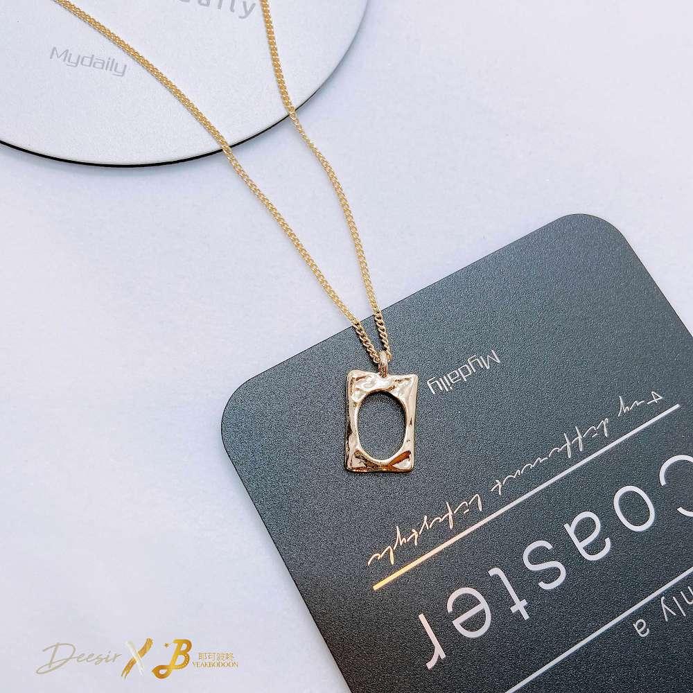 項鍊 - 挖空相框鎖骨鍊 合金 - 飾品調色盤 | 迪希雅 deesir