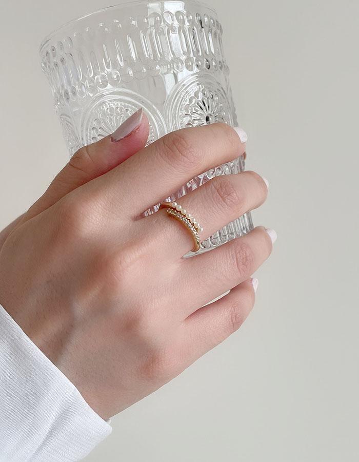 單戒指 - 巴洛克珍珠調節戒指 - 飾品調色盤   迪希雅 deesir