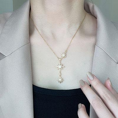 項鍊 - 五芒星耀眼鑲鑽項鍊 - 飾品調色盤 | 迪希雅 deesir