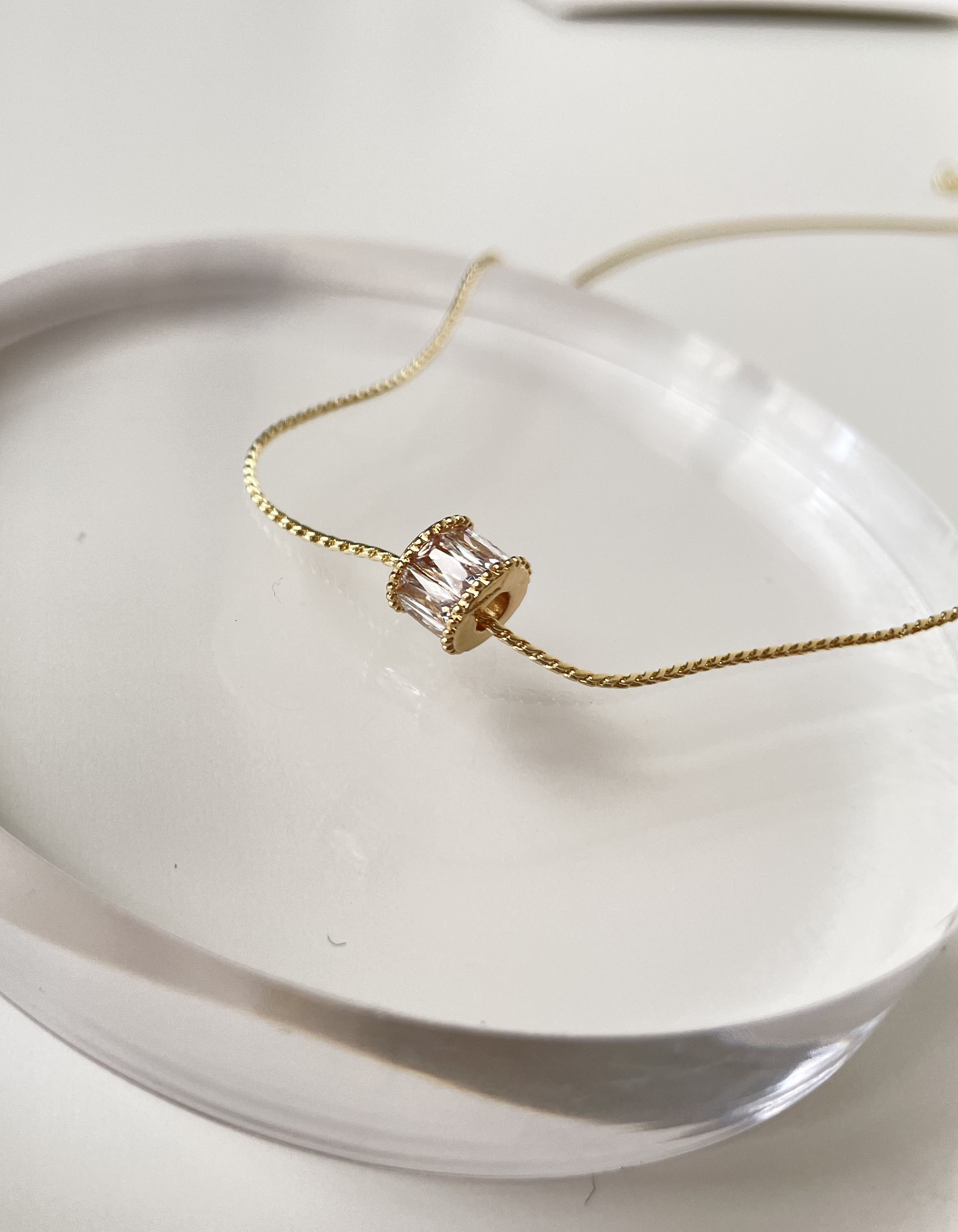 項鍊 - 閃耀小巧鑲鑽鎖骨鍊 - 飾品調色盤 | 迪希雅 deesir