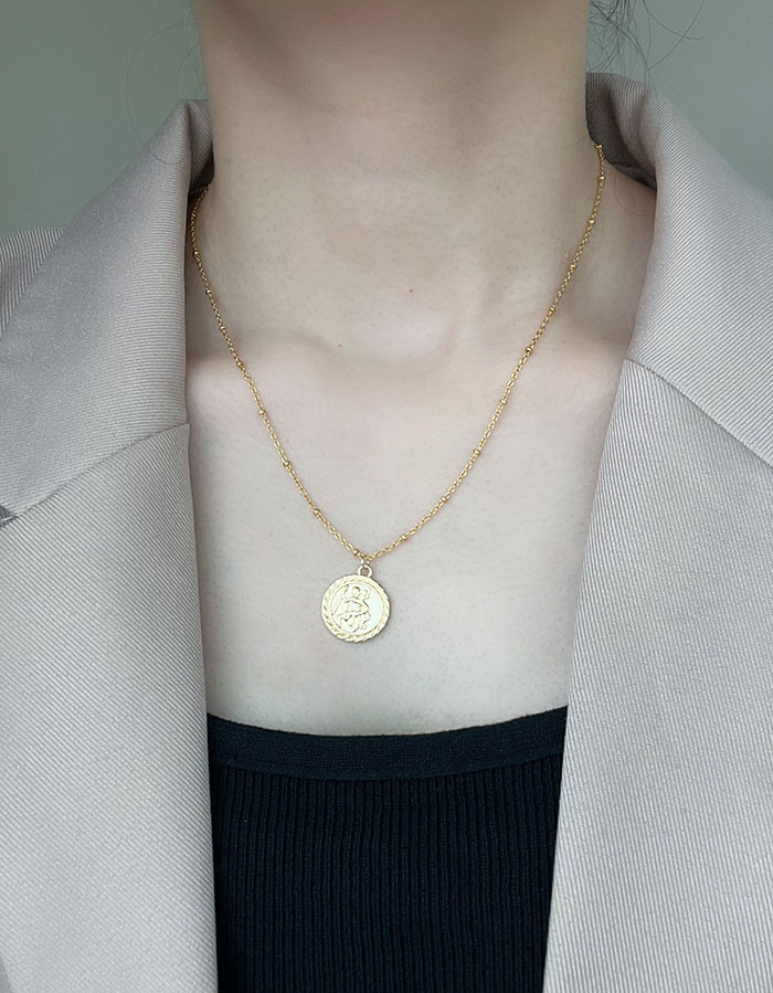 項鍊 - 冷淡風經典人物圓牌項鍊 - 飾品調色盤 | 迪希雅 deesir