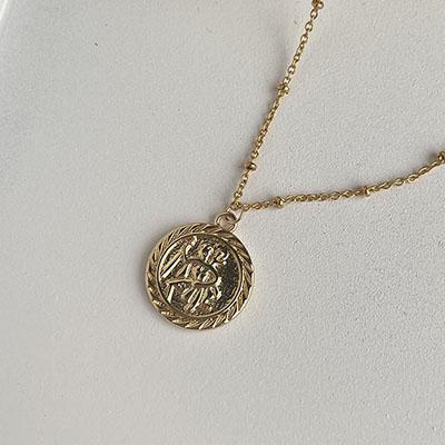 項鍊 - 冷淡風經典人物圓牌項鍊 - 飾品調色盤   迪希雅 deesir