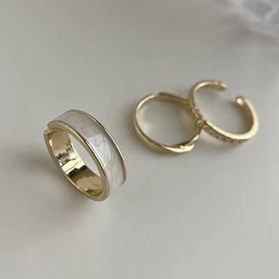 戒指組 - 冷淡風滴釉調節戒指組 - 飾品調色盤   迪希雅 deesir