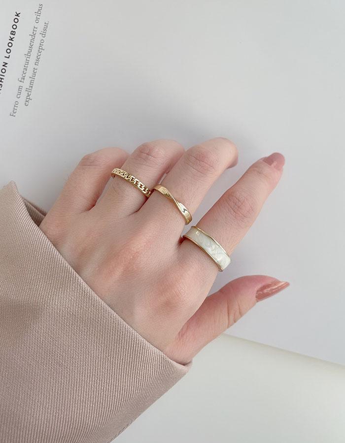 戒指組 - 冷淡風滴釉調節戒指組 - 飾品調色盤 | 迪希雅 deesir