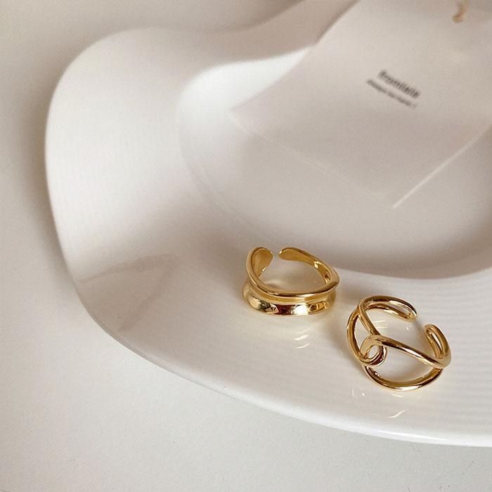 戒指組 - 極簡感線條鏤空可調戒指組 - 飾品調色盤   迪希雅 deesir