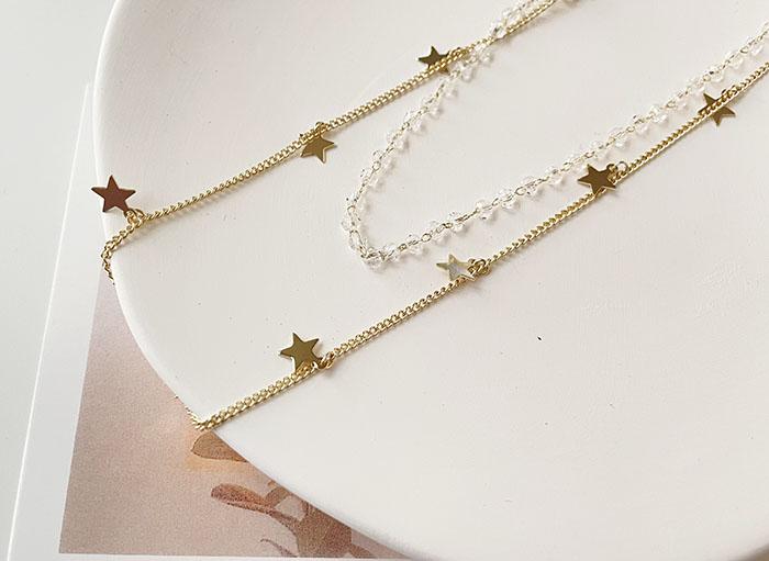 項鍊 - 星星雙層項鍊 - 飾品調色盤   迪希雅 deesir