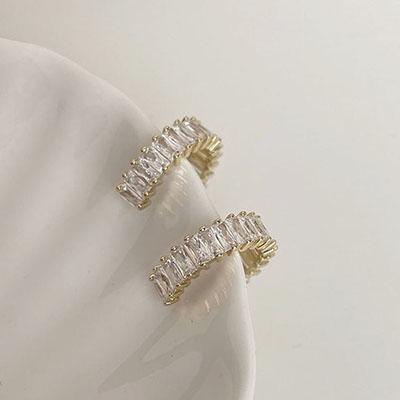 針式耳環 - 輕奢感鋯石耳環 - 飾品調色盤   迪希雅 deesir