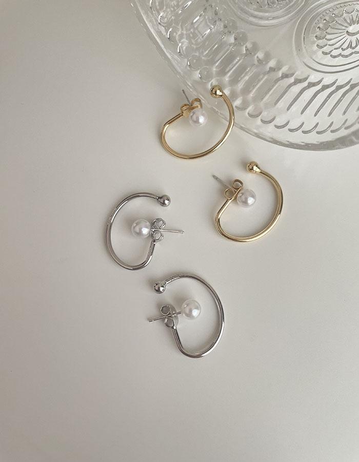 針式耳環 - 簡約感珍珠耳環 - 飾品調色盤   迪希雅 deesir
