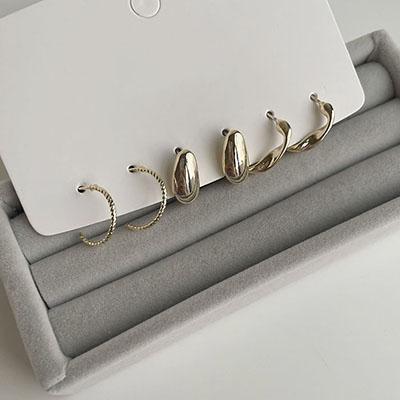 針式耳環 - 氣質耳環三對組 - 飾品調色盤 | 迪希雅 deesir