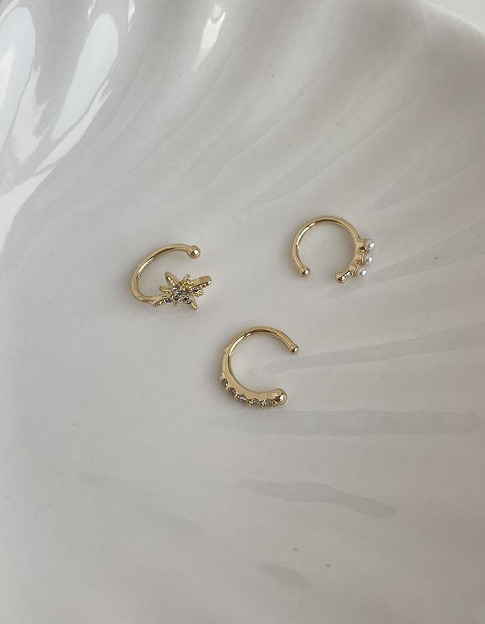 耳骨夾 - 排列珍珠耳骨夾(單支) - 飾品調色盤 | 迪希雅 deesir