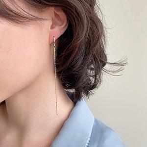 針式 - 圓環垂墜長耳環 - 飾品調色盤 | 迪希雅 deesir