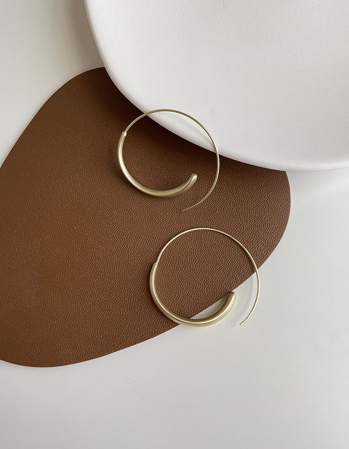 針式耳環 - 簡約霧金耳圈 - 飾品調色盤 | 迪希雅 deesir