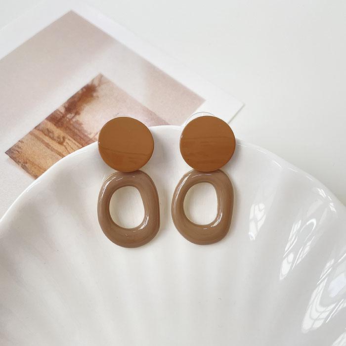 針式耳環 - 鏤空圓環耳環 - 飾品調色盤   迪希雅 deesir