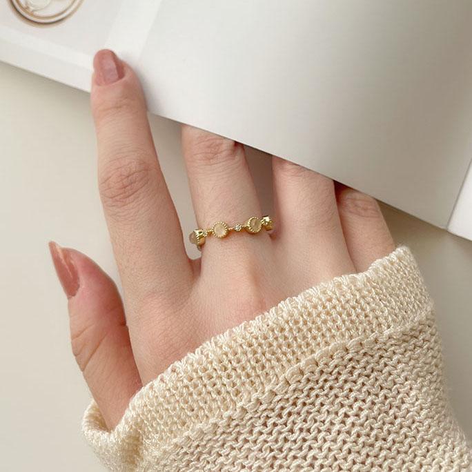單戒指 - 貓眼石環繞可調式戒指 - 飾品調色盤 | 迪希雅 deesir