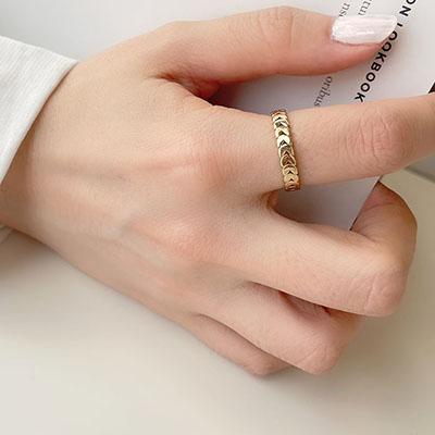 單戒指 - 鍊條風格戒指 - 飾品調色盤   迪希雅 deesir