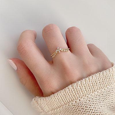 單戒指 - 輕奢皇冠水鑽戒指 - 飾品調色盤 | 迪希雅 deesir