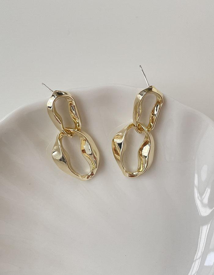 針式耳環 - 冷淡風不規則雙圈耳環 - 飾品調色盤 | 迪希雅 deesir