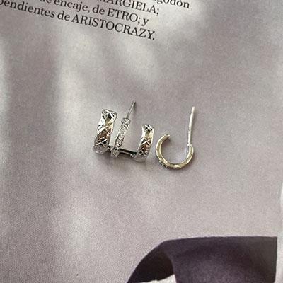 針式 - 不對稱多圈耳環 - 飾品調色盤 | 迪希雅 deesir