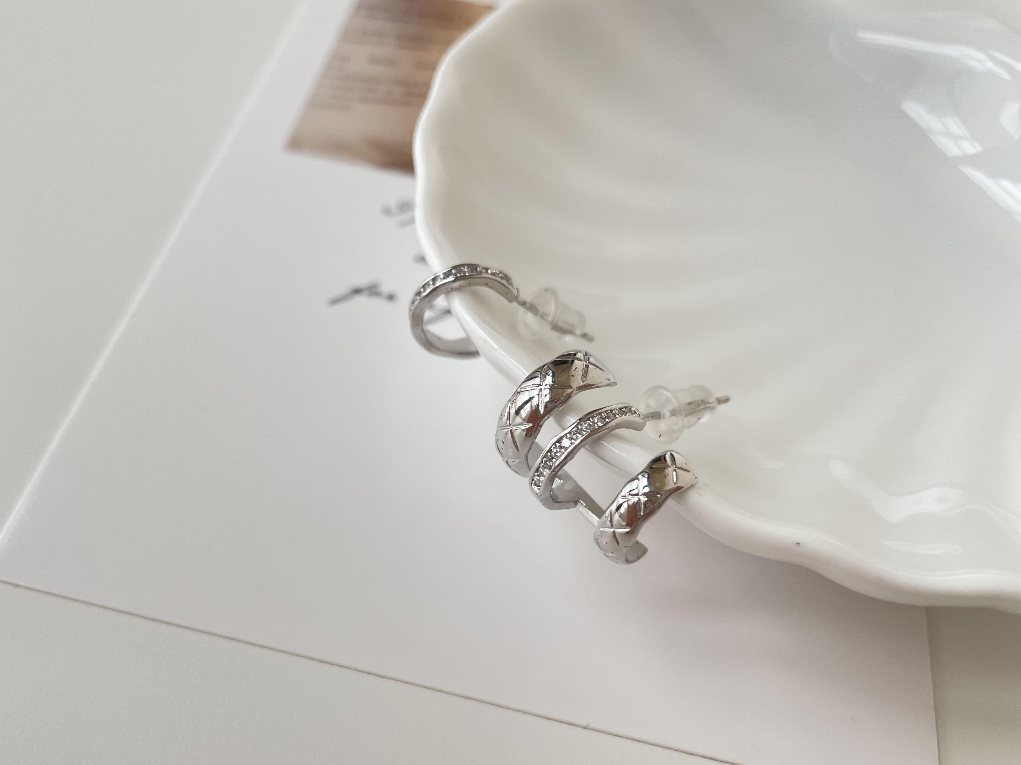 針式耳環 - 不對稱多圈耳環 - 飾品調色盤 | 迪希雅 deesir