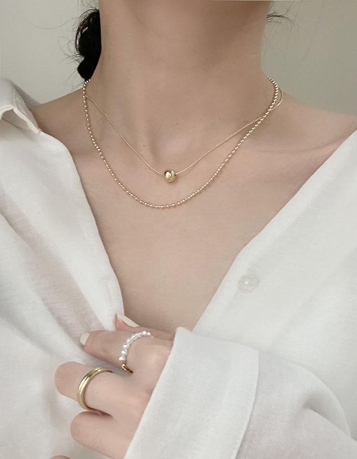 頸鍊|短 - 單圓珠雙層鎖骨鍊 - 飾品調色盤 | 迪希雅 deesir