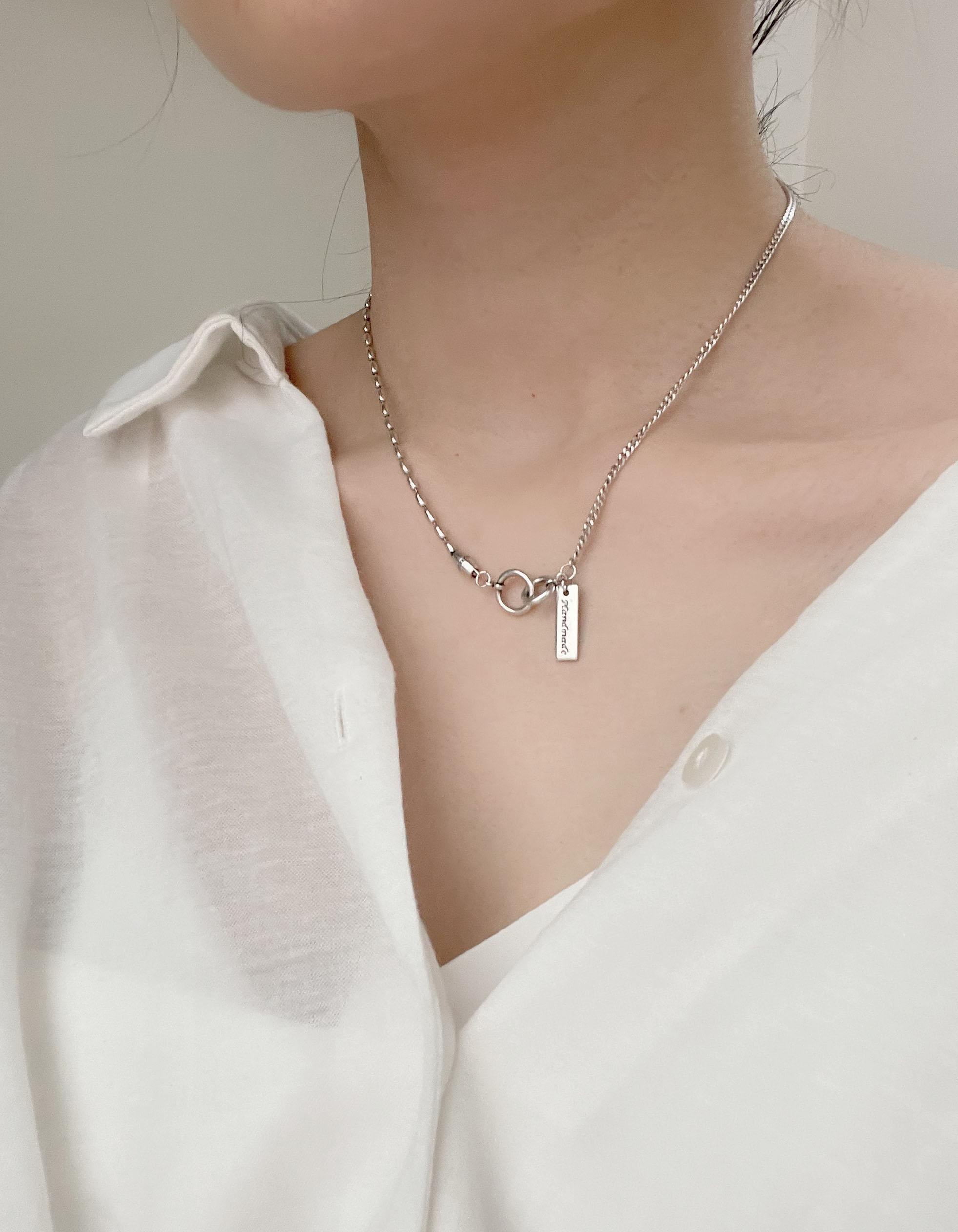 頸鍊|短 - 簡約拼接鍊條項鍊 - 飾品調色盤 | 迪希雅 deesir