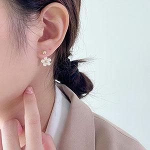 針式 - 氣質花朵耳環 - 飾品調色盤   迪希雅 deesir