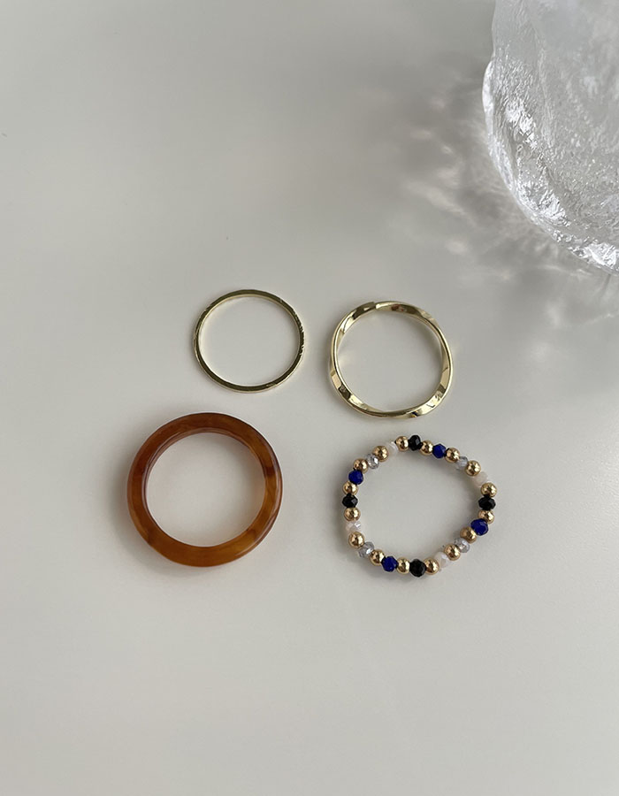 戒指組 - 彩色串珠戒指組 - 飾品調色盤   迪希雅 deesir
