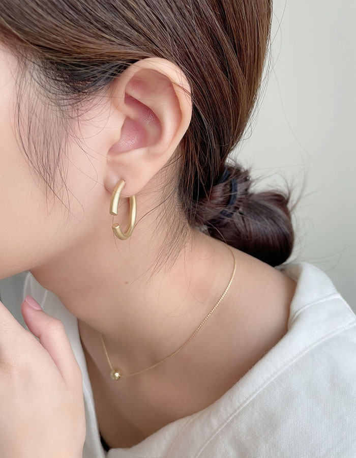 針式 - 圓形缺口設計感耳環 - 飾品調色盤 | 迪希雅 deesir