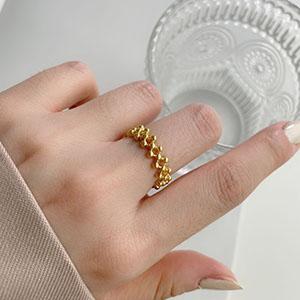 單戒指 - 歐美菱格可調式戒指 - 飾品調色盤 | 迪希雅 deesir