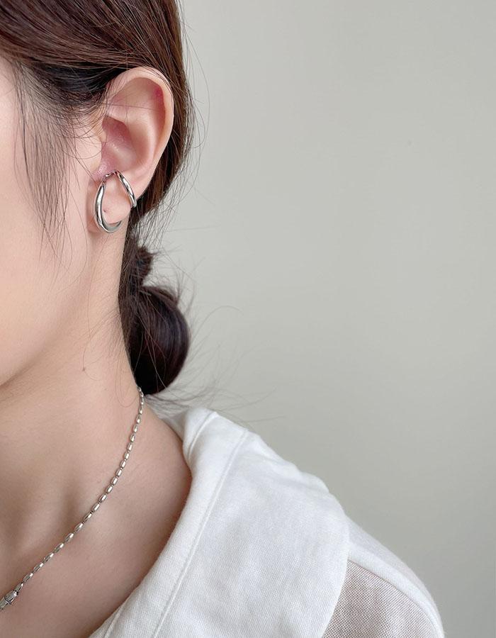 耳骨夾 - 歐美亮感雙環造型耳骨夾 - 飾品調色盤 | 迪希雅 deesir