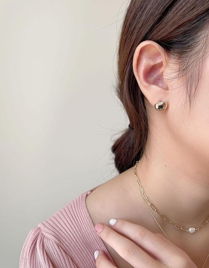 針式耳環 - 不規則圓型耳環 - 飾品調色盤 | 迪希雅 deesir