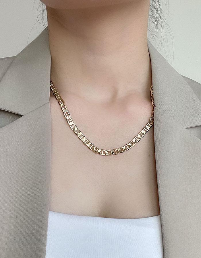 鎖骨鍊 中 - 歐美幾何鍊條項鍊 - 飾品調色盤   迪希雅 deesir