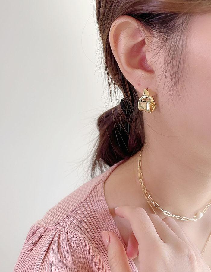 針式耳環 - 簡約扭曲型耳環 - 飾品調色盤 | 迪希雅 deesir