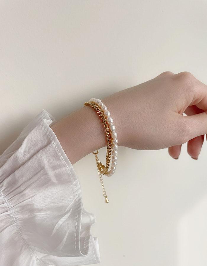 手鍊 - 法式珍珠雙層手鍊 - 飾品調色盤   迪希雅 deesir