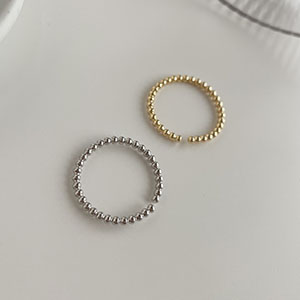 單戒指 - 極細圓珠戒指可調戒指 - 飾品調色盤   迪希雅 deesir