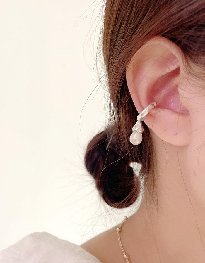 耳骨夾 - 設計感問號珍珠耳骨夾 - 飾品調色盤 | 迪希雅 deesir