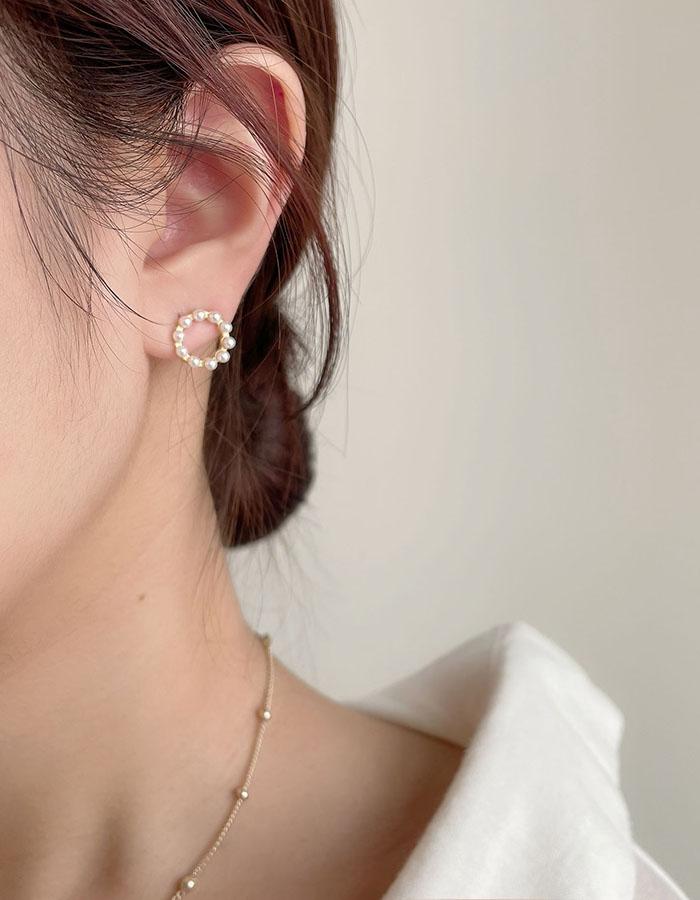 耳骨夾 - 珍珠圓形耳骨夾 - 飾品調色盤   迪希雅 deesir