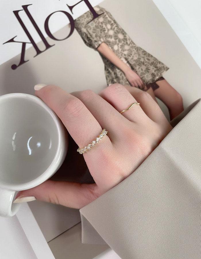 戒指組 - 幾何排鑽戒指組 - 飾品調色盤 | 迪希雅 deesir