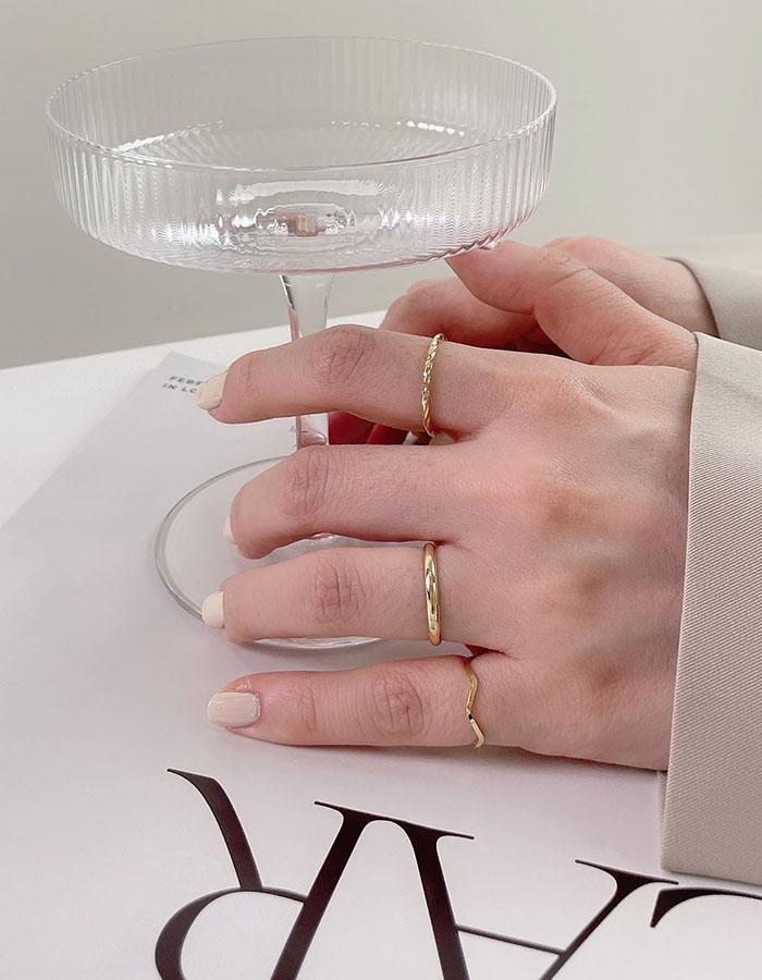 戒指組 - 簡約百搭戒指三件組 - 飾品調色盤   迪希雅 deesir