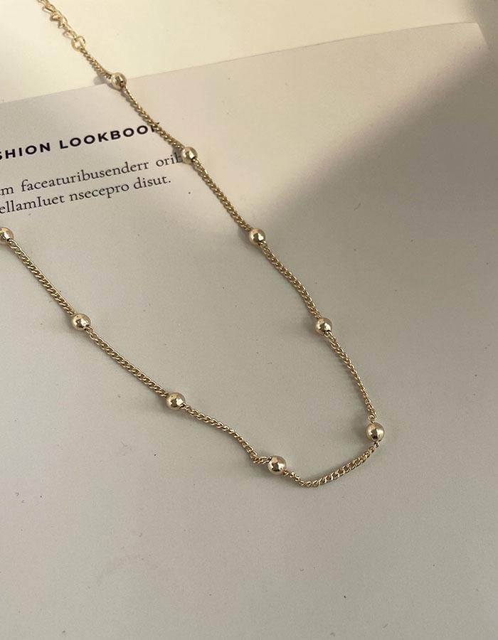鎖骨鍊 中 - 極細小圓珠項鍊 - 飾品調色盤   迪希雅 deesir