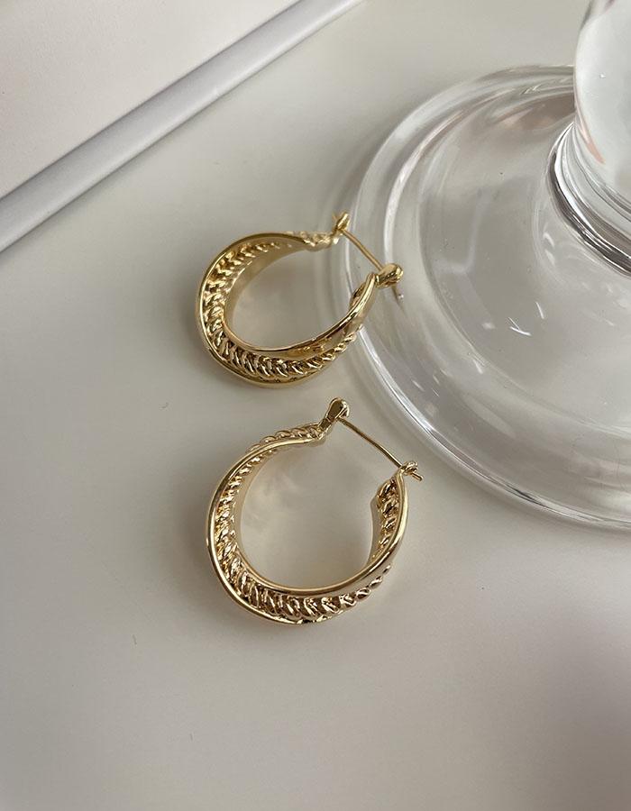 針式 - 歐美金屬麻花曲線耳環 - 飾品調色盤 | 迪希雅 deesir