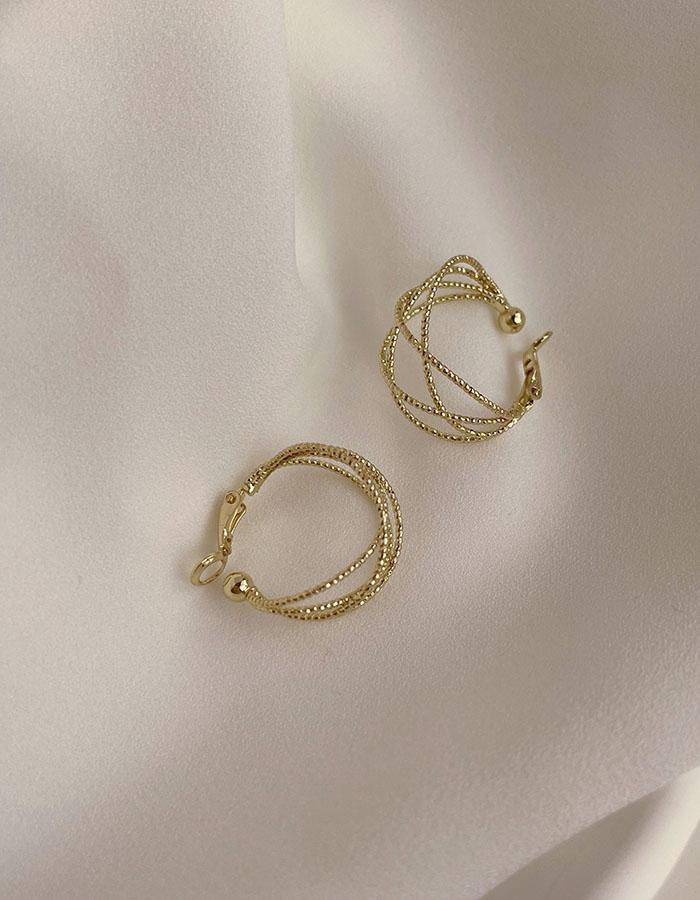 耳夾 - 設計感金屬線條耳夾 - 飾品調色盤 | 迪希雅 deesir