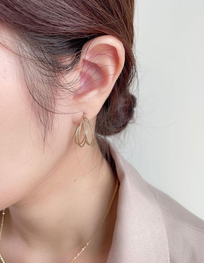 針式 - 設計感金屬線條耳環 - 飾品調色盤 | 迪希雅 deesir