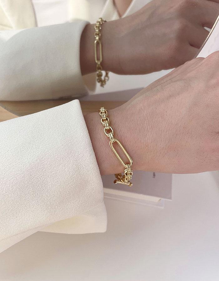 手鍊 - 簡約鍊條T型扣手鍊 - 飾品調色盤 | 迪希雅 deesir