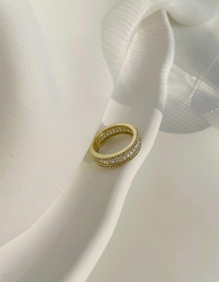 單戒指 - 輕奢鋯石可調戒指 - 飾品調色盤   迪希雅 deesir