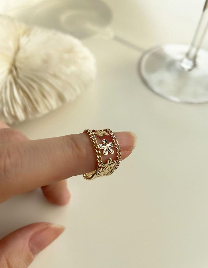 單戒指 - 復古鏤空花朵戒指 - 飾品調色盤   迪希雅 deesir